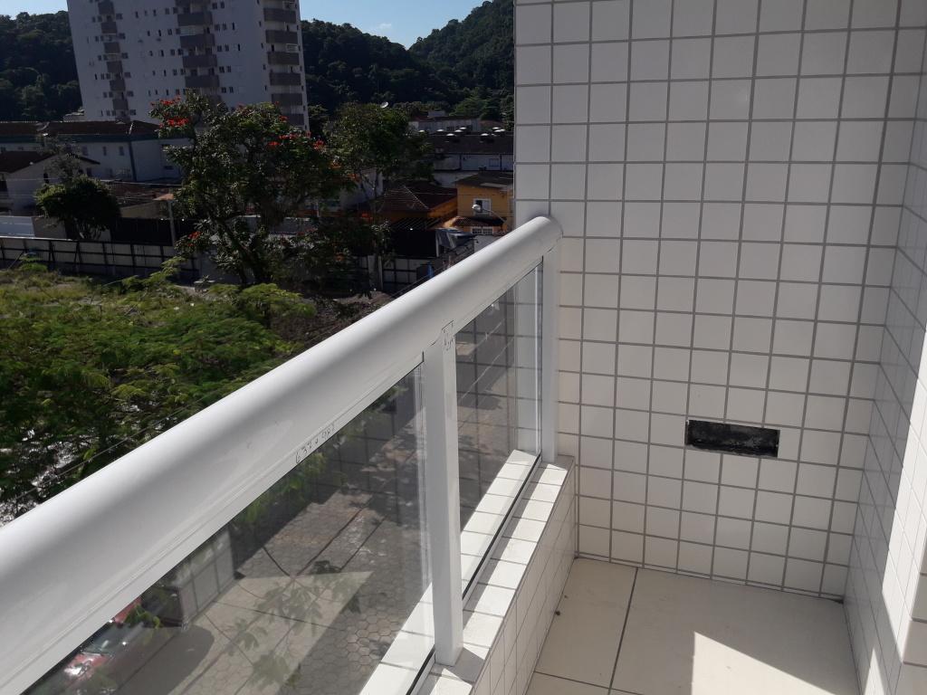 Sacada do apartamento com 1 dormitórios em CANTO DO FORTE - PRAIA GRANDE