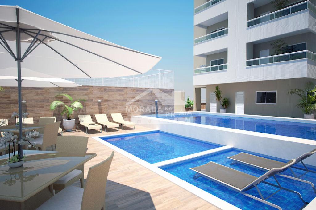 Piscina do apartamento com 1 dormitórios em CAIÇARA - PRAIA GRANDE