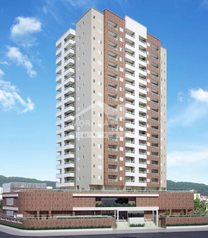 Fachada do apartamento com 1 dormitórios em CAIÇARA - PRAIA GRANDE