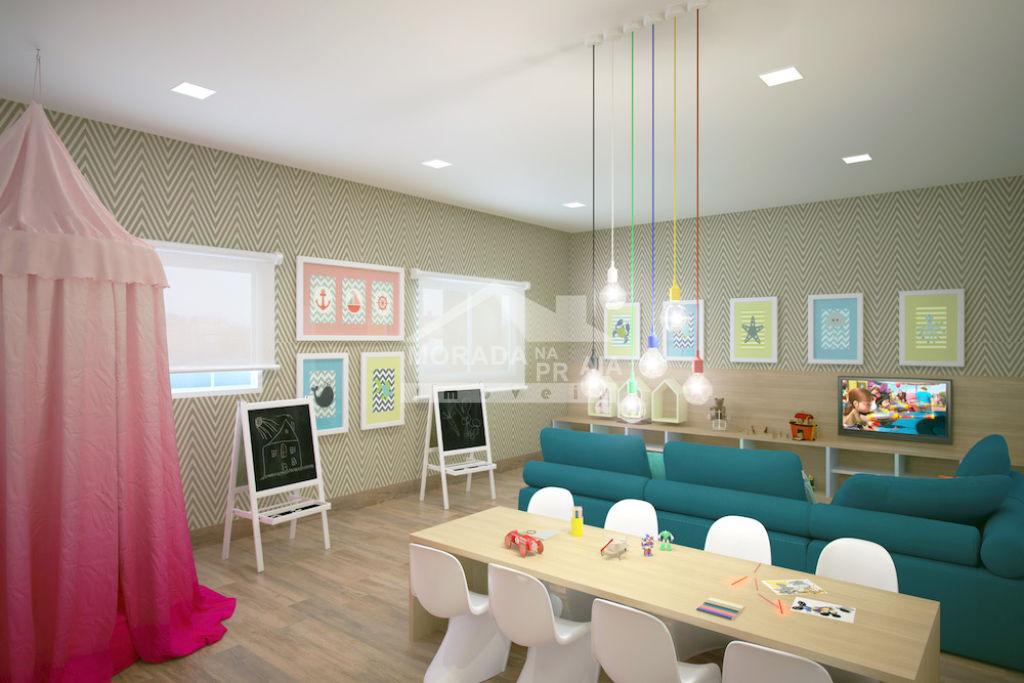 Salão de jogos do apartamento com 2 dormitórios em CAIÇARA - PRAIA GRANDE