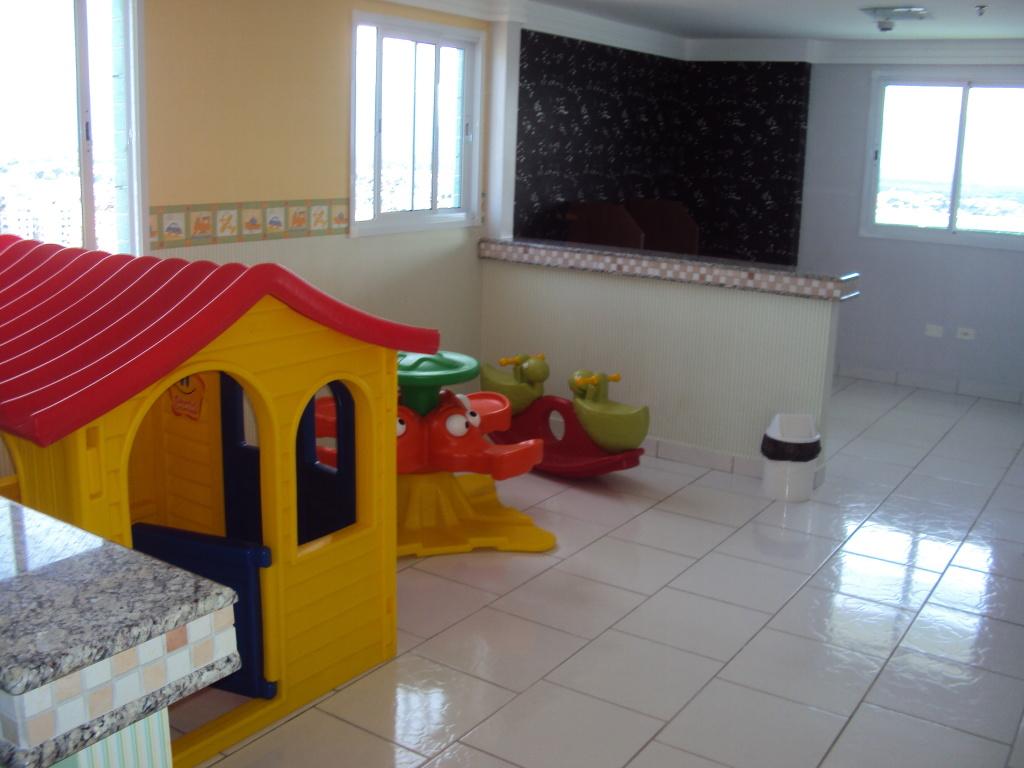 Dormitório do apartamento com 1 dormitórios em BOQUEIRÃO - PRAIA GRANDE
