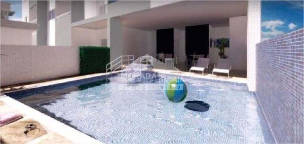 Piscina do apartamento com 2 dormitórios em Campo da Aviação - Praia Grande