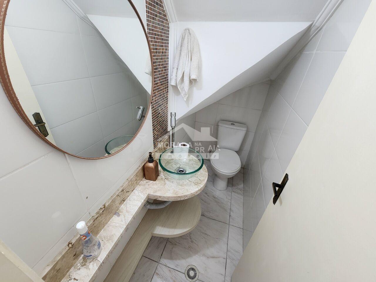 Sala do condomínio fechado com 2 dormitórios em GUILHERMINA - PRAIA GRANDE
