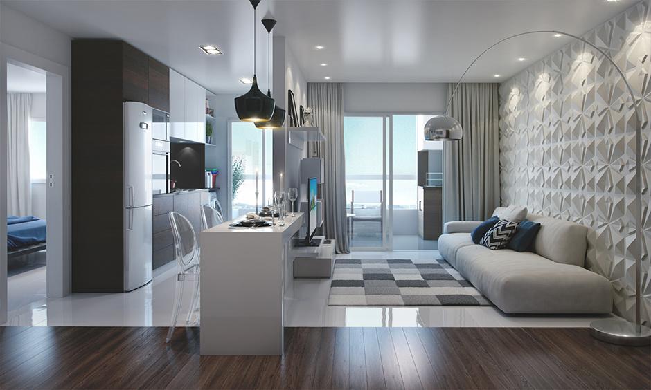 do apartamento com 1 dormitórios em BOQUEIRÃO - PRAIA GRANDE