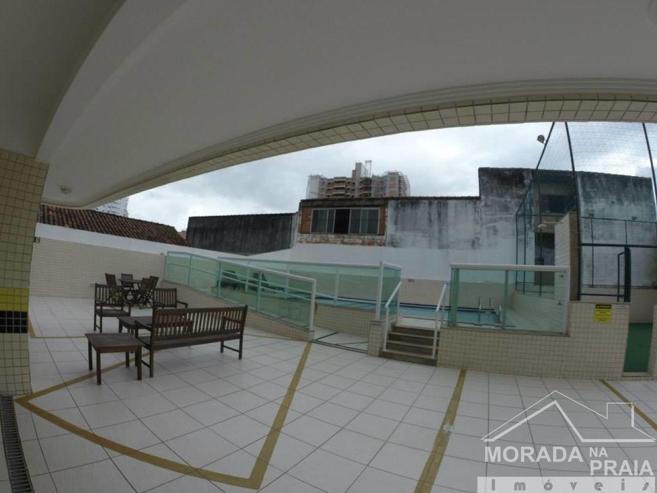 Hall da piscina do apartamento com 1 dormitórios em AVIAÇÃO - PRAIA GRANDE