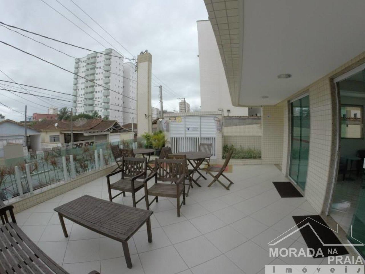 Sacada do salão de festas do apartamento com 1 dormitórios em AVIAÇÃO - PRAIA GRANDE