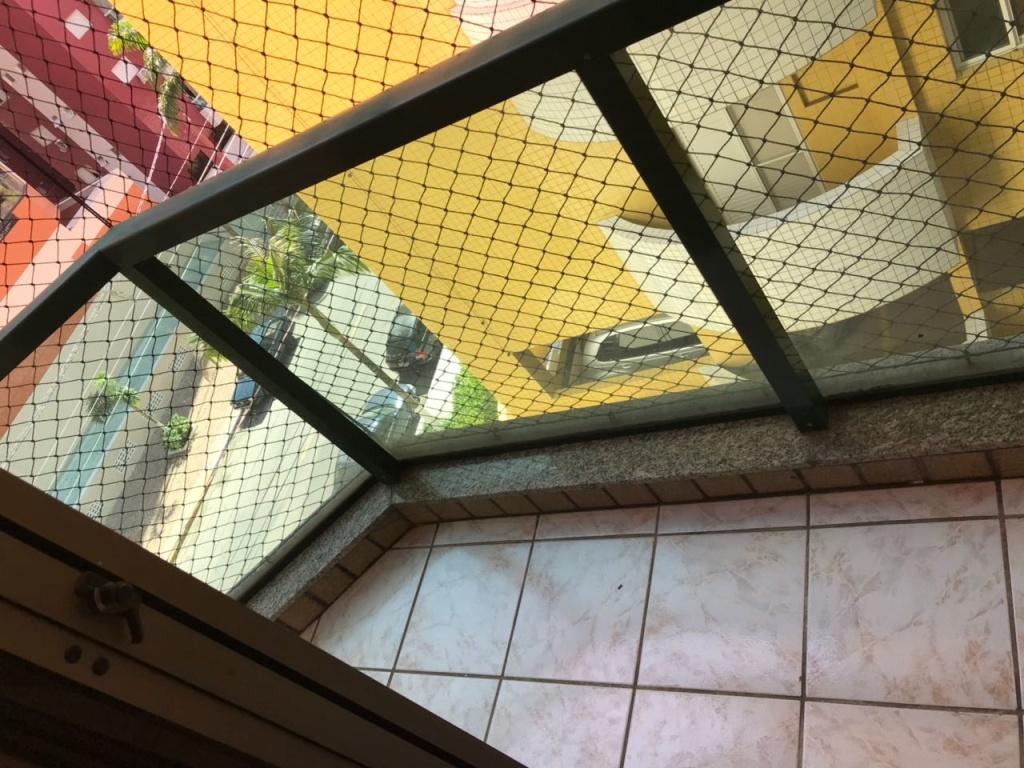 sacada do dormitório do apartamento com 2 dormitórios em CANTO DO FORTE - PRAIA GRANDE