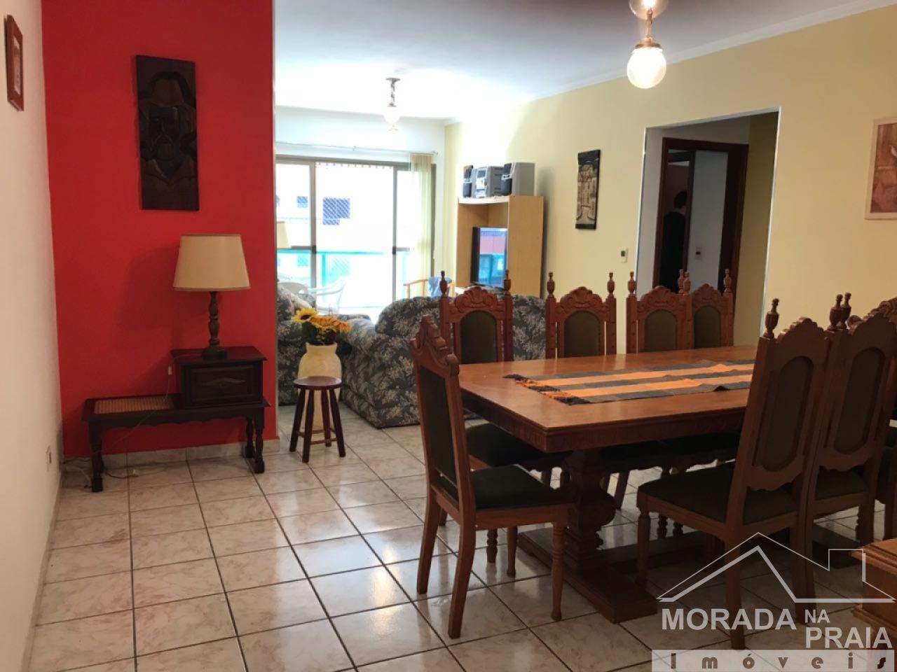 Sala 2 ambientes do apartamento com 2 dormitórios em CANTO DO FORTE - PRAIA GRANDE
