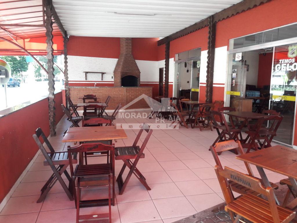 Salão Externo do comércio com  dormitórios em Canto do Forte - Praia Grande