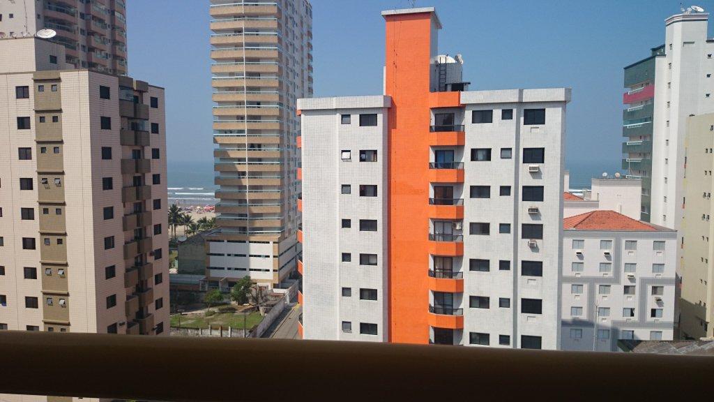 Vista da sala do apartamento com 1 dormitórios em Campo da Aviação - Praia Grande