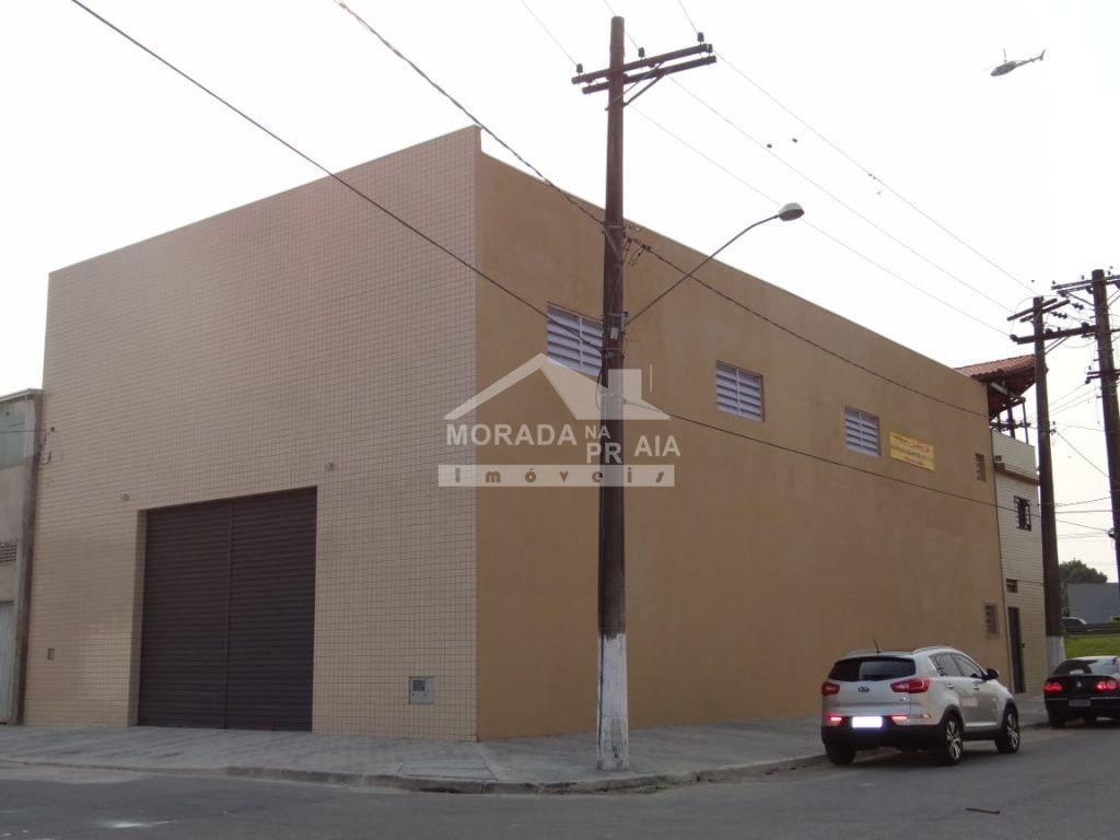 Fachada ang 02 do galpão com  dormitórios em Vila Guilhermina - Praia Grande