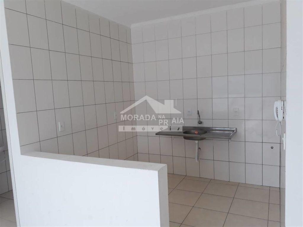 Cozinha do salão de festas do apartamento com 2 dormitórios em GUILHERMINA - PRAIA GRANDE