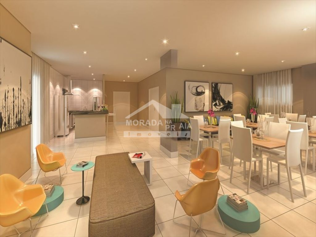 Salão de festas do apartamento com 3 dormitórios em CAIÇARA - PRAIA GRANDE