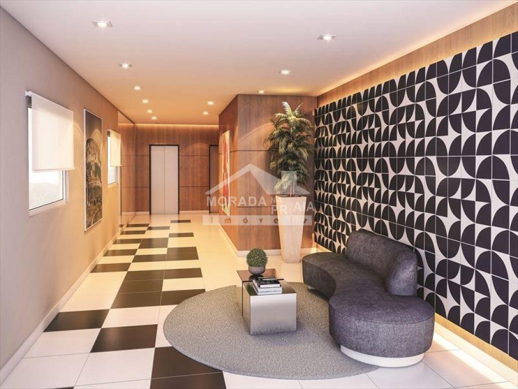 Hall de entrada do apartamento com 2 dormitórios em CAIÇARA - PRAIA GRANDE