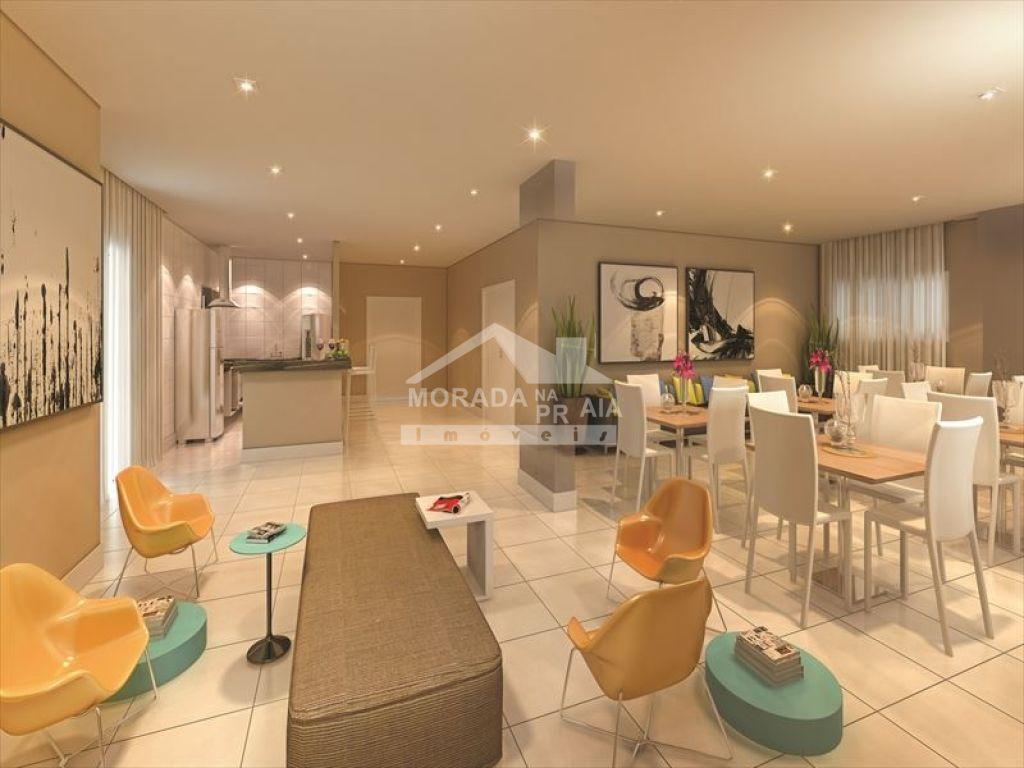 Salão de festas do apartamento com 2 dormitórios em CAIÇARA - PRAIA GRANDE