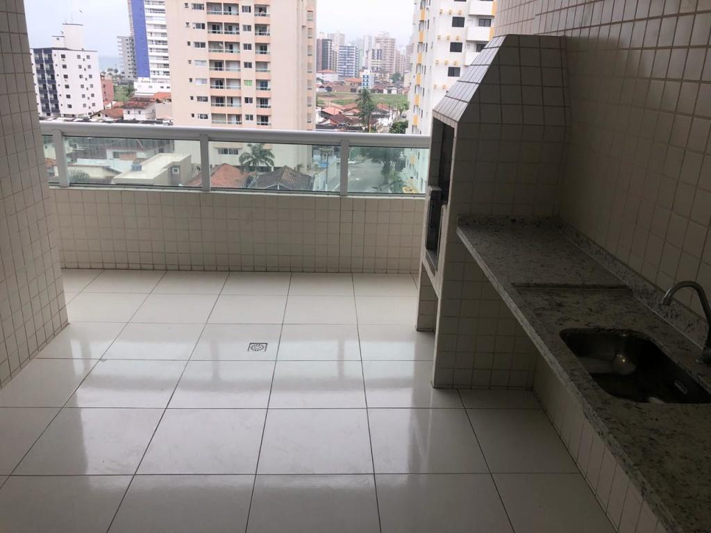 Sacada do apartamento com 3 dormitórios em Vila Guilhermina - Praia Grande