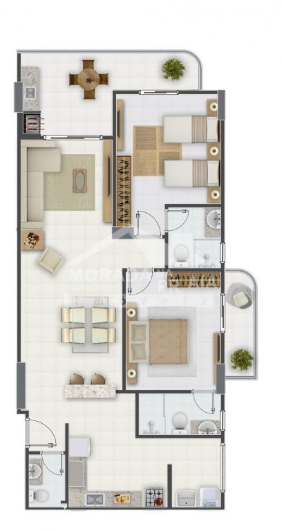 Final 06 do apartamento com 2 dormitórios em Campo da Aviação - Praia Grande