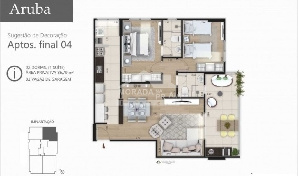 Final 4 do apartamento com 2 dormitórios em Vila Caiçara - Praia Grande
