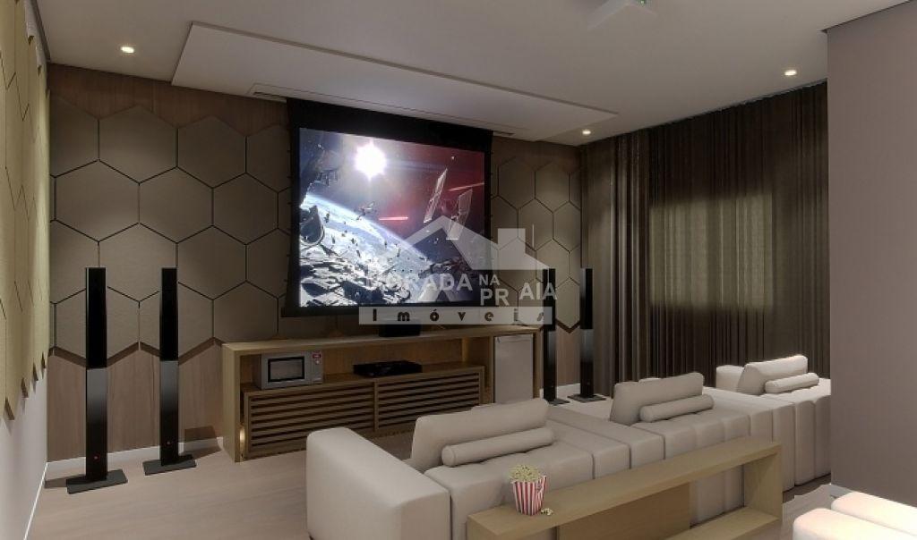 Sala de Cinema do apartamento com 2 dormitórios em Vila Caiçara - Praia Grande