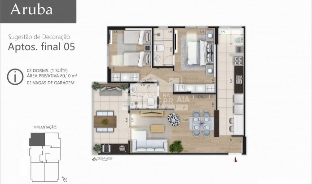 Final 5 do apartamento com 2 dormitórios em Vila Caiçara - Praia Grande