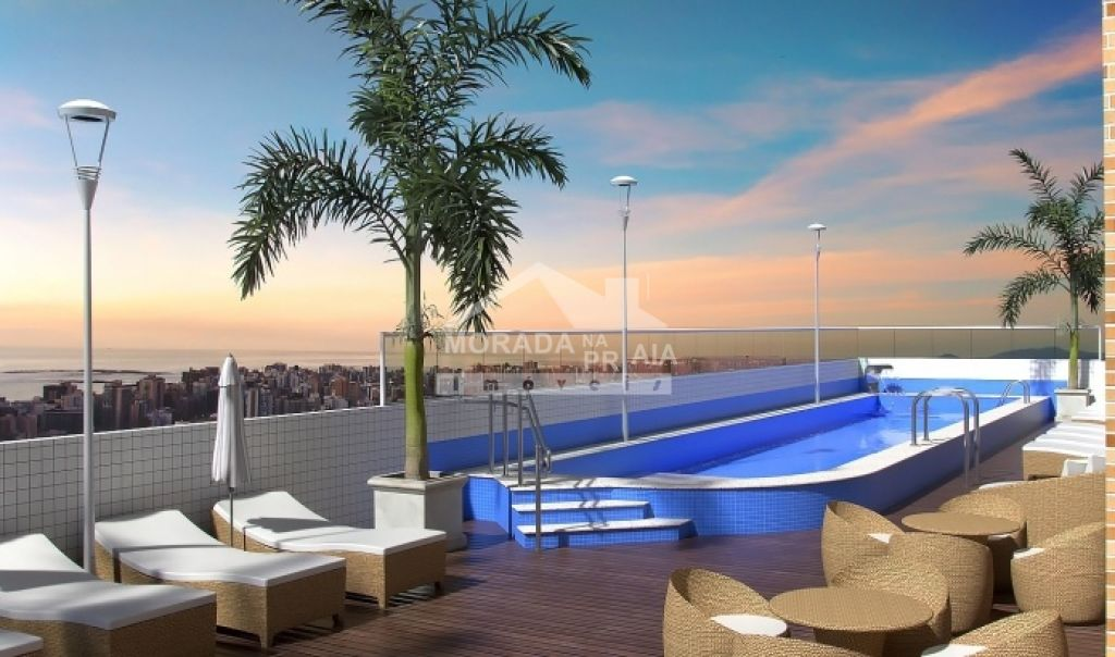 Piscina do apartamento com 2 dormitórios em Vila Caiçara - Praia Grande
