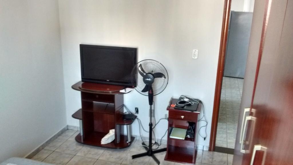 Dormitório do apartamento com 1 dormitórios em Vila Guilhermina - Praia Grande
