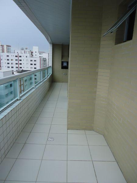 Sacada do apartamento com 3 dormitórios em GUILHERMINA - PRAIA GRANDE