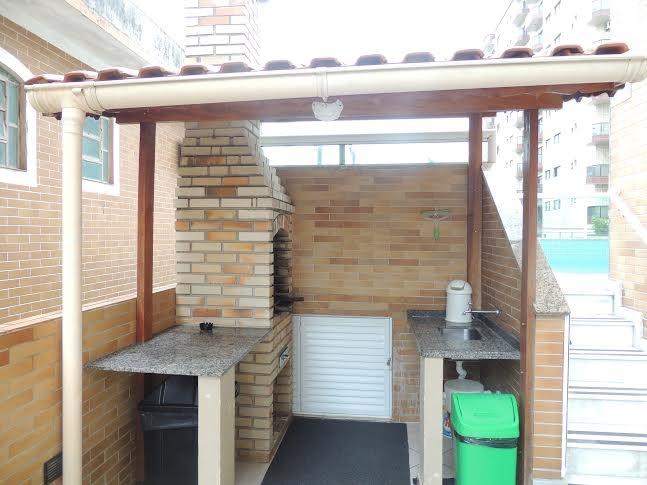 Churrasqueira ang 02 do apartamento com 2 dormitórios em CANTO DO FORTE - PRAIA GRANDE