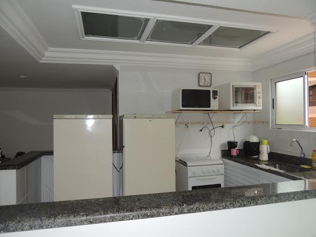 Cozinha do salão do apartamento com 2 dormitórios em CANTO DO FORTE - PRAIA GRANDE
