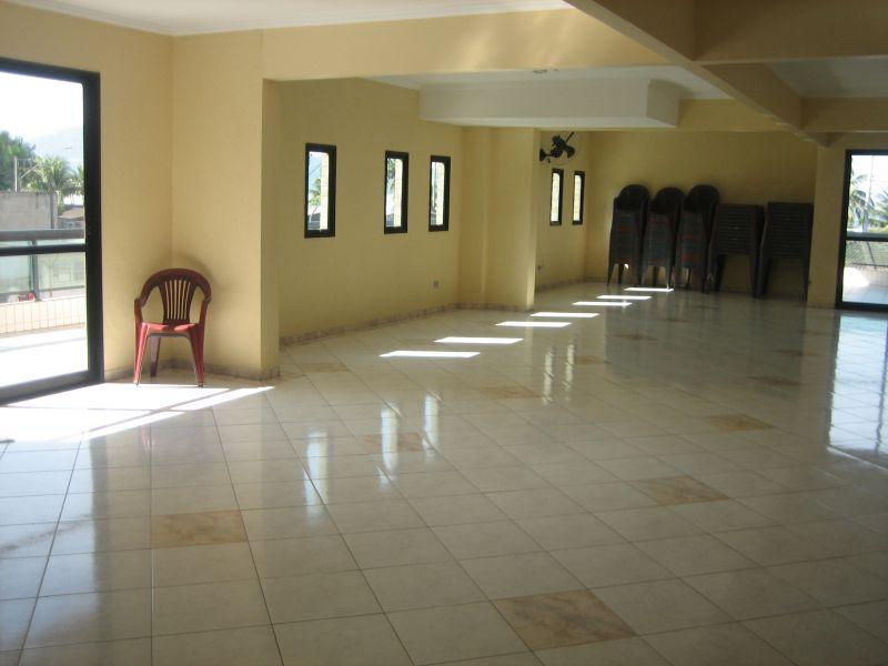 Salão de festas do apartamento com 2 dormitórios em GUILHERMINA - PRAIA GRANDE