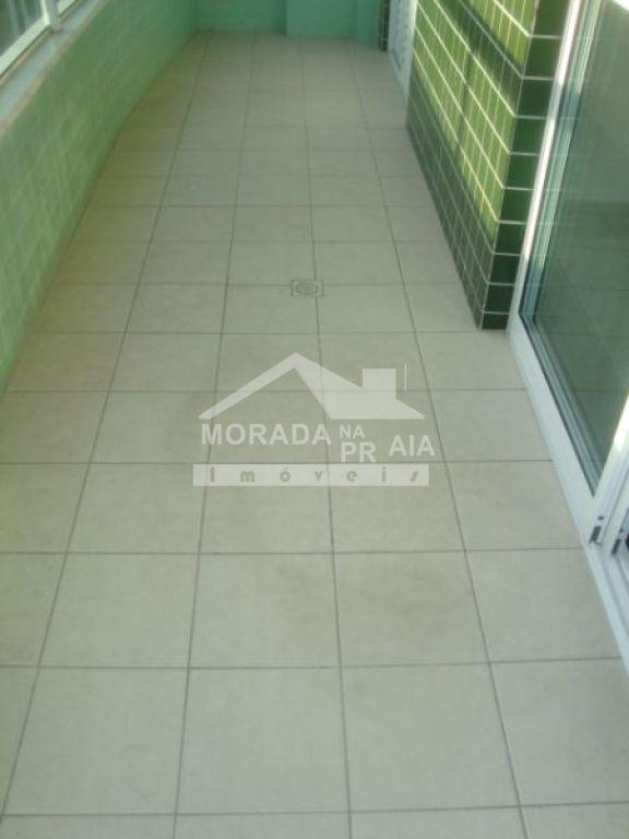Sacada do apartamento com 3 dormitórios em CANTO DO FORTE - PRAIA GRANDE
