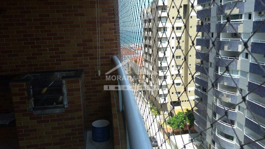 Varanda do apartamento com 2 dormitórios em CANTO DO FORTE - PRAIA GRANDE