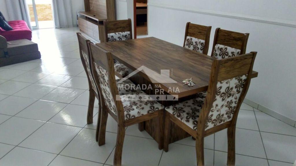 Sala de jantar do apartamento com 2 dormitórios em CANTO DO FORTE - PRAIA GRANDE