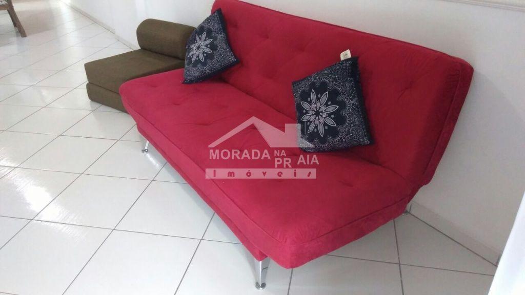 Sala de estar do apartamento com 2 dormitórios em CANTO DO FORTE - PRAIA GRANDE