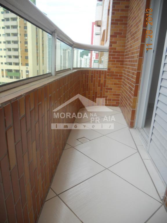 Sacada dormitório do apartamento com 2 dormitórios em CANTO DO FORTE - PRAIA GRANDE