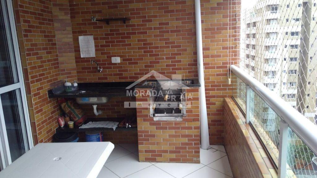 Varanda gourmet do apartamento com 2 dormitórios em CANTO DO FORTE - PRAIA GRANDE