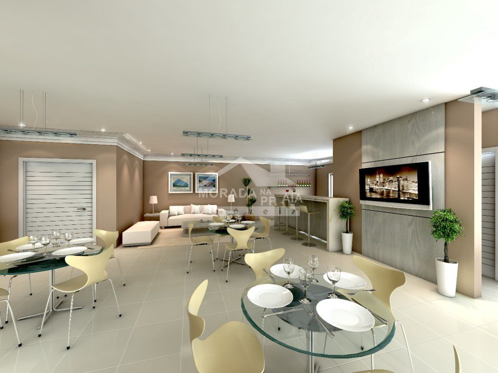 Salão de Festa I do apartamento com 3 dormitórios em GUILHERMINA - PRAIA GRANDE