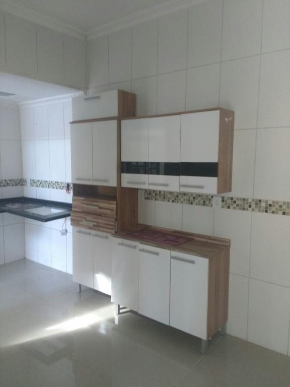 Cozinha do casa geminada com 2 dormitórios em AVIAÇÃO - PRAIA GRANDE