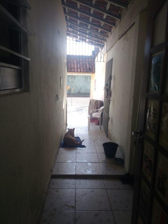Corredor externo do casa geminada com 2 dormitórios em AVIAÇÃO - PRAIA GRANDE