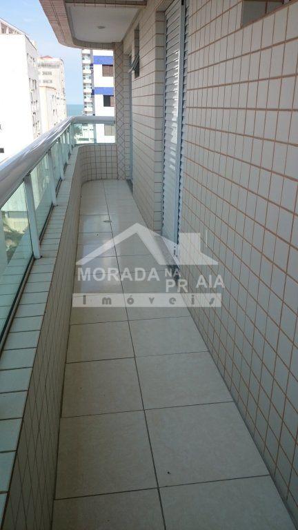 Sacada da sala e dormitórios do apartamento com 3 dormitórios em AVIAÇÃO - PRAIA GRANDE