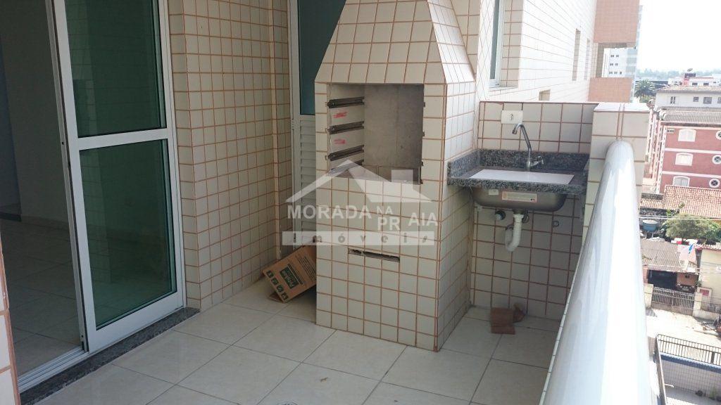 Churrasqueira e pia do apartamento com 3 dormitórios em AVIAÇÃO - PRAIA GRANDE