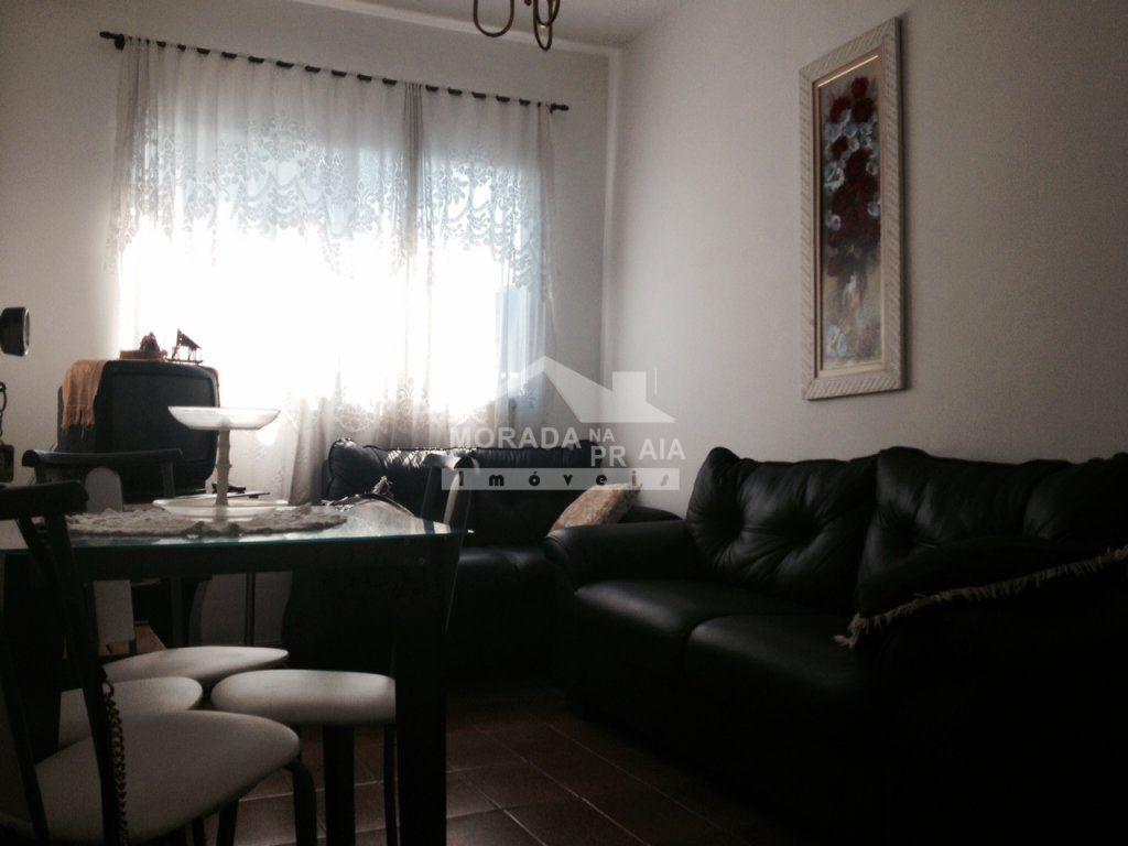 Sala do apartamento com 1 dormitórios em MIRIM - PRAIA GRANDE