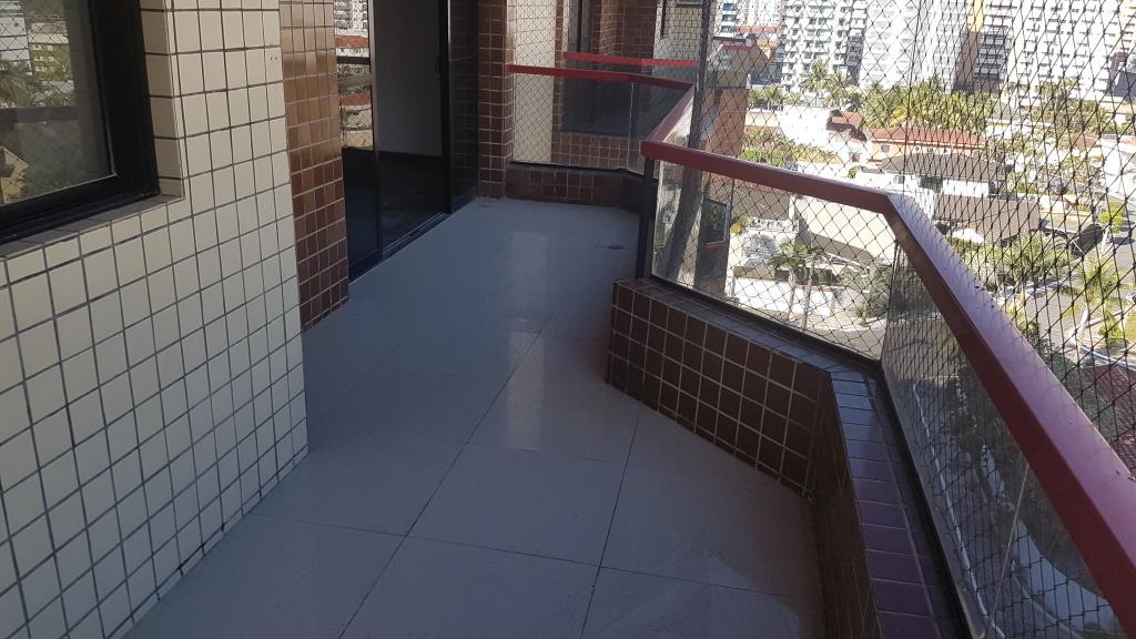 Sacada da sala ang 02 do apartamento com 4 dormitórios em CANTO DO FORTE - PRAIA GRANDE