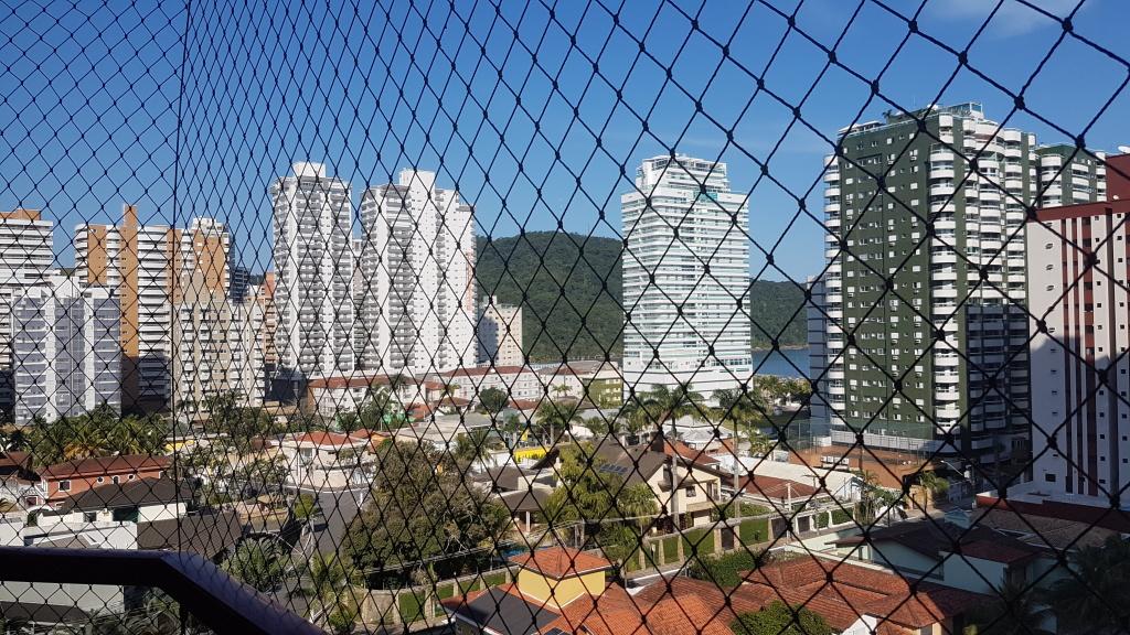 Vista da sala do apartamento com 4 dormitórios em CANTO DO FORTE - PRAIA GRANDE