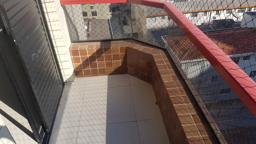 Sacada da suíte 02 do apartamento com 4 dormitórios em CANTO DO FORTE - PRAIA GRANDE