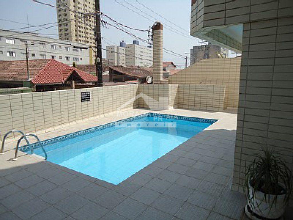 Piscina do apartamento com 1 dormitórios em AVIAÇÃO - PRAIA GRANDE