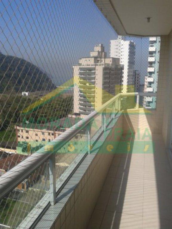 Sacada do salão festas do apartamento com 2 dormitórios em CANTO DO FORTE - PRAIA GRANDE