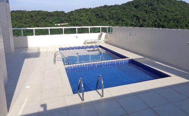 Piscina do apartamento com 2 dormitórios em CANTO DO FORTE - PRAIA GRANDE