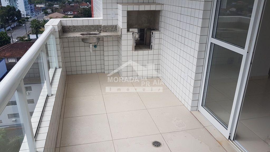 Terraço gourmet do apartamento com 1 dormitórios em CANTO DO FORTE - PRAIA GRANDE