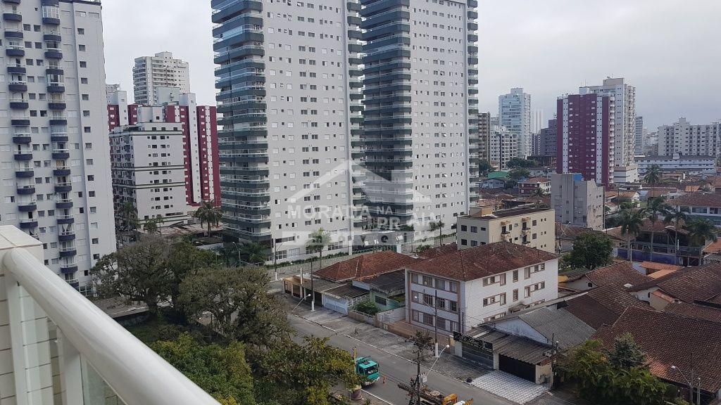 Vista da sala ang 02 do apartamento com 1 dormitórios em CANTO DO FORTE - PRAIA GRANDE